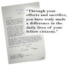 Ronald Reagan letter