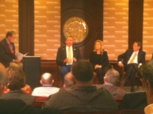 A panel at the Idaho association of cities meeting discusses management of public lands.